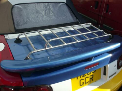 narrow fits with rear spoiler Boot luggage rack Mazda MX-5 stainless steel MX5