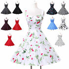 Luxury Women Floral Vintage 1950s Audrey Evening Hepburn Swing Dress