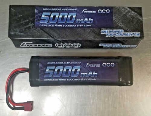 NEW! GENS Ace NIMH 5000mAh 8.4V w// Deans F Battery 7 cell Flat Pack RC Car etc