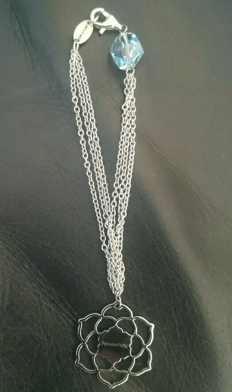 NOMINATION 3 string bracelet with crystal stone, made in