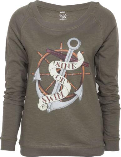 Coste carogna Sink or Swim sailor anchor ancoraggio Raglan Felpe Pullover Rockabilly