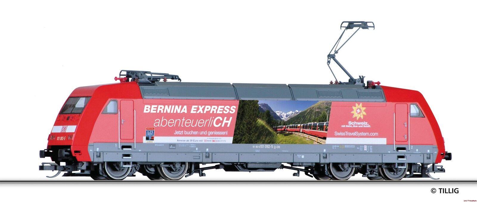 TT E-Lok BR 101 092-5 Bernina Express avventuroso DB AG Ep. vi Tillig 02316 NUOVO