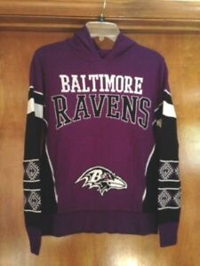 d04f5e341 BALTIMORE RAVENS NFL Ugly Sweater w Hood Purple Multi-Color youth ...
