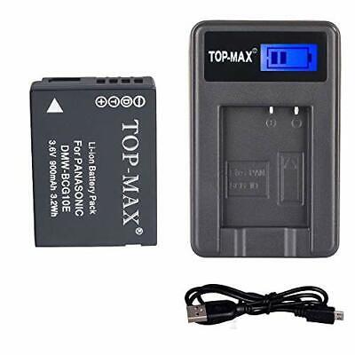 TOP MAX® DMW BCG10E BCG10 E Akku + USB Ladegerät für Panasonic Lumix DMC 3D1 | eBay