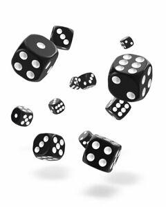Oakie-Doakie-Dados-12mm-W6-Cubo-Solid-Negro-36-D6-Tablero-de-Mesa-Cubo-Black