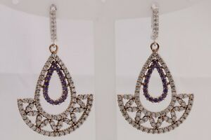 Turkish-Handmade-Jewelry-Round-Cut-Amethyst-Topaz-925-Sterling-Silver-Earrings