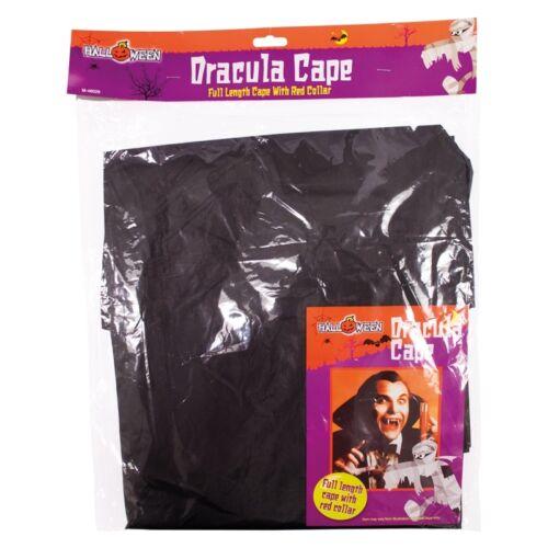 Adulto Dracula Vampiro Costume Mantello Cloak ABITO PER HALLOWEEN FANCY DRESS PARTY
