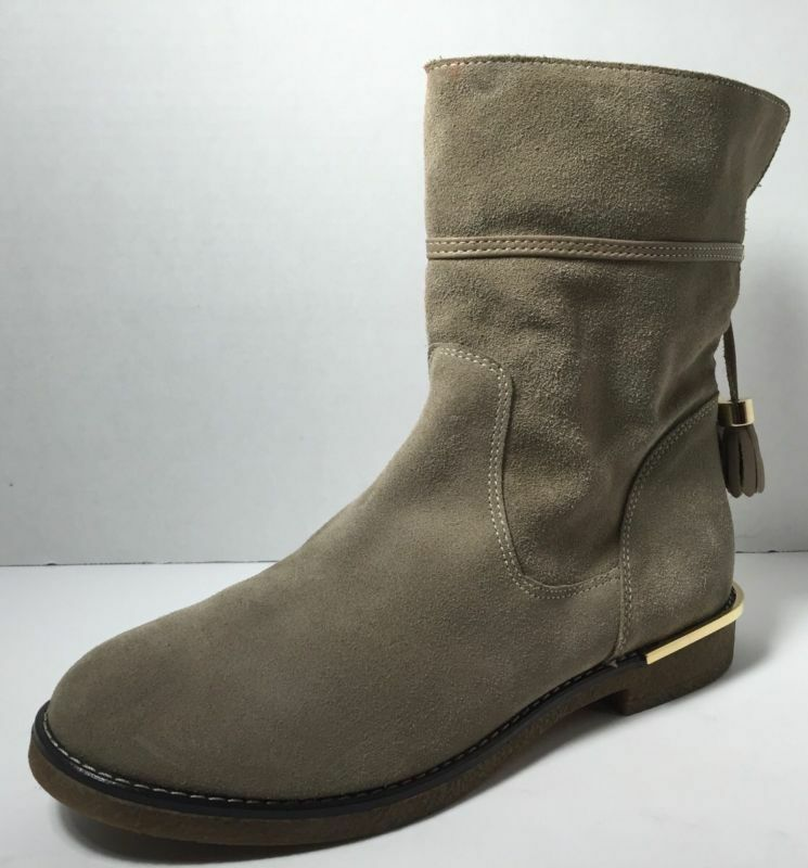 Charles David Women's Taupe Suede Ankle Boots Shoe Size 10 MSRP $395 NWD