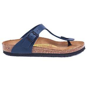 34611897f1af Image is loading Birkenstock-Gizeh-Womens-Blue-Sandals