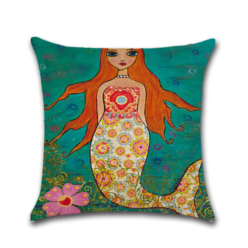 """Cushion Cover Pillowcase Cotton Linen Pillow Case Sofa Throw Home Decor 18/""""x18/"""""""