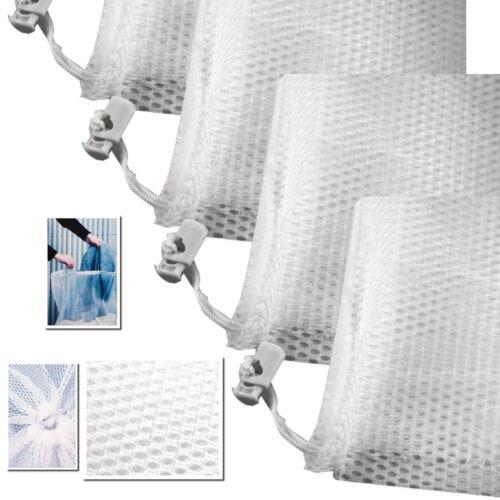 4 x Großer Wäschenetz Sack waschen 61 x 91 cm Wäsche bis 3 Kg Wäschenetze