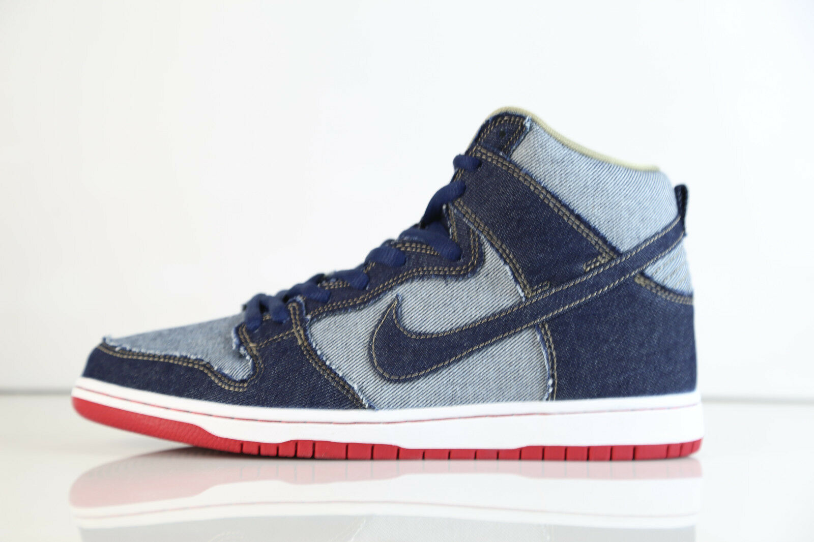 Nike Dunk High Premium Pro SB TRD QS Midnight Navy Reese Forbes Denim 881758-441
