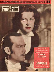 FUNK-UND-FILM-1955-nr-14-ANGELIKA-HAUFF-amp-RENE-DELTGEN-DENISE-HOLT-GOLOWSKY