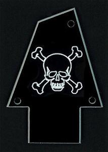 BLACK SILVER GUITAR TRUSS ROD COVER Engraved CUSTOM SHOP Fits EPIPHONE