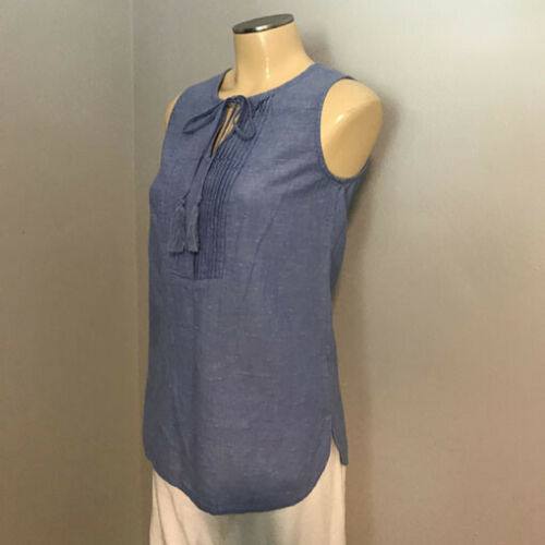 J McLAUGHLIN ~ Chambray BLUE Tie front Sleeveless