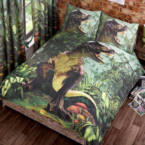 T-Rex Dinosaure housse de couette Double Ensemble Neuf