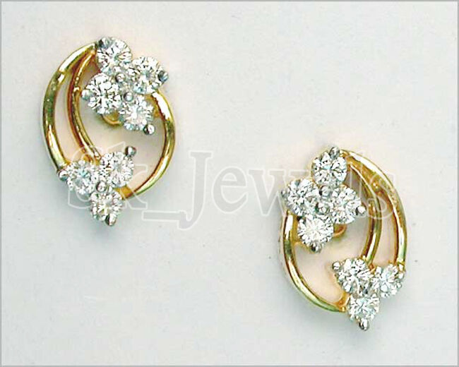 0.70ctw NATURAL DIAMOND 14K YELLOW gold WEDDING ANNIVERSARY STUD EARRING