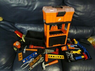 Home Depot Kids Tool Chest Set Rare Ebay