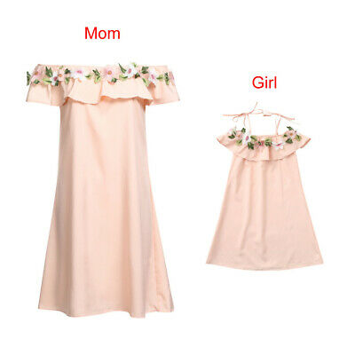 Family Dress Lady/'s Mother Daughter Matching Summer Girl Dress Clothes Outfit