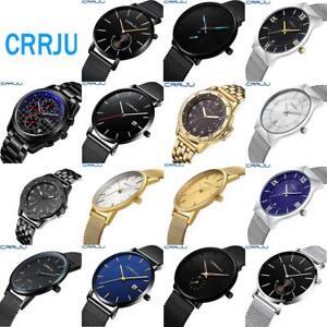 CRRJU-Business-Men-039-s-Ultra-thin-Dial-Wrist-Watch-Luxury-Analog-Quartz-Wristwatch