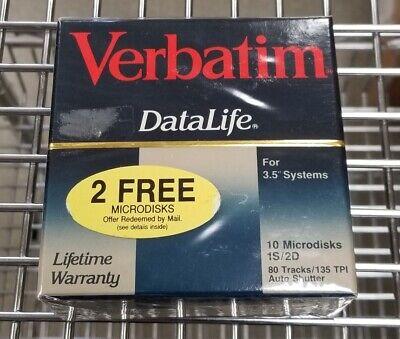 SEALED. Verbatim Datalife  1S//2D SINGLE SIDE DOUBLE DENSITY 3.5 FLOPPY DISKS