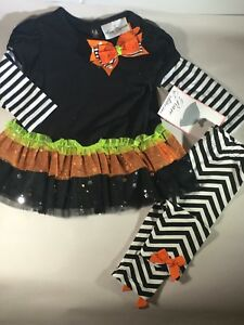 dc37fb7f716ef Image is loading Rare-Editions-Baby-Toddler-Girl-Thanksgiving-Leggings -Outfit-