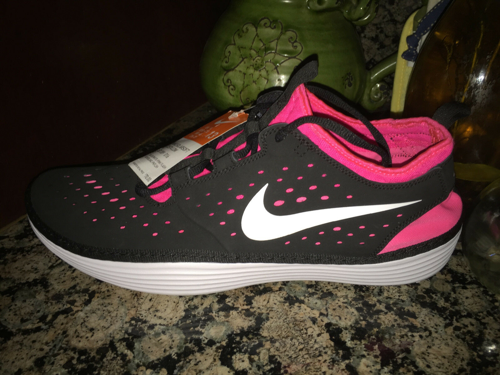NEW NIKE Solarsoft Costa Low Mens Casual shoes Black White Pink 13