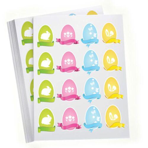 Home Decor 16 Coloured Eggs Happy Easter Self-adhesive vinyl Sticker