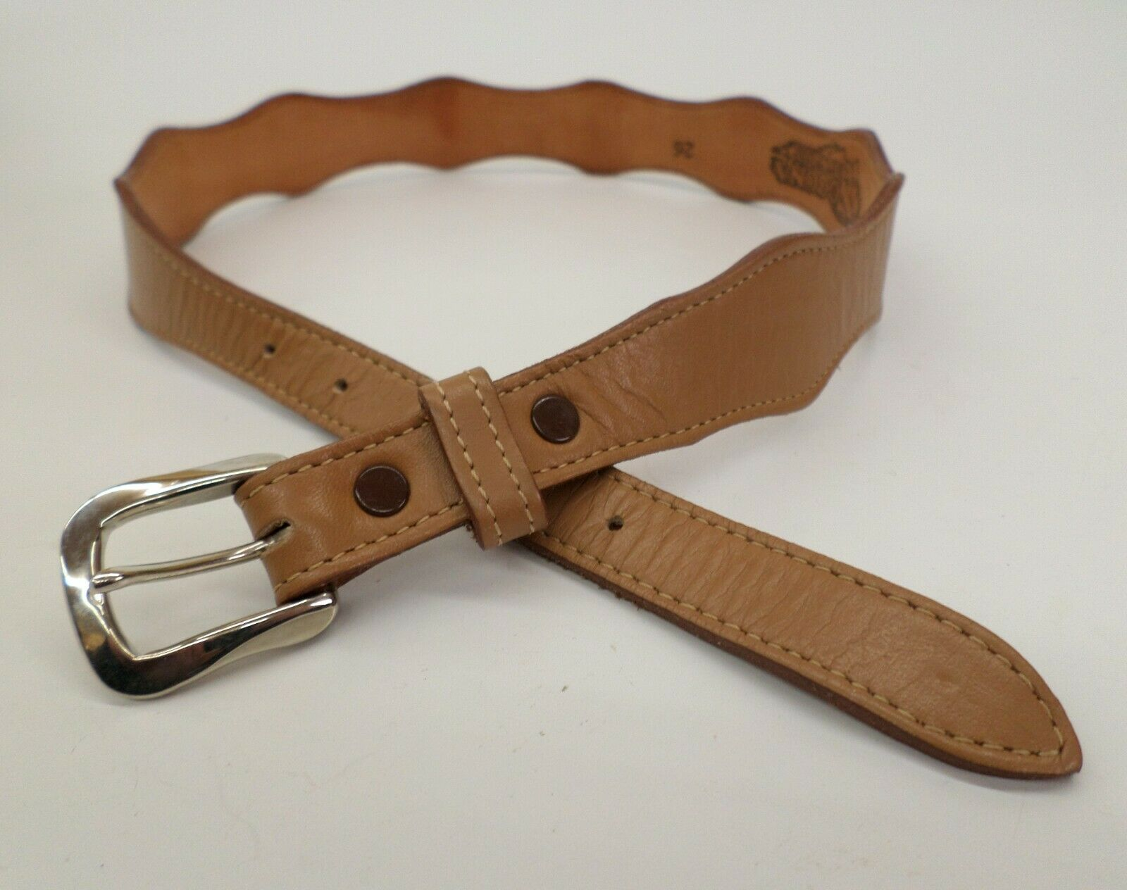 Nocona Leather Belt 26 Western Cowgirl Brown 554