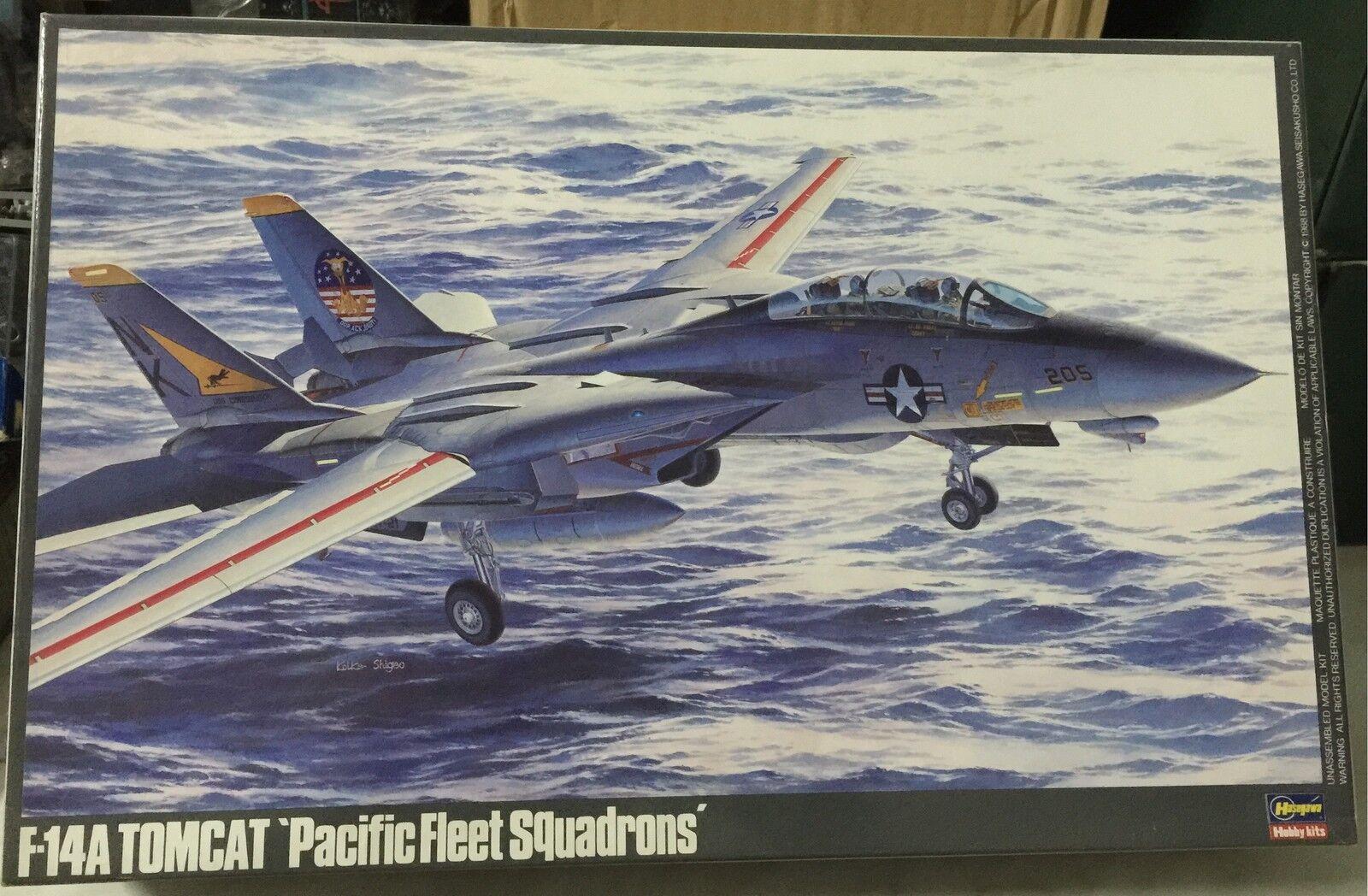 Hasegawa F14A Tomcat Pacifico Feet Squadroni Model Kit Scala 1/48, Nuovo