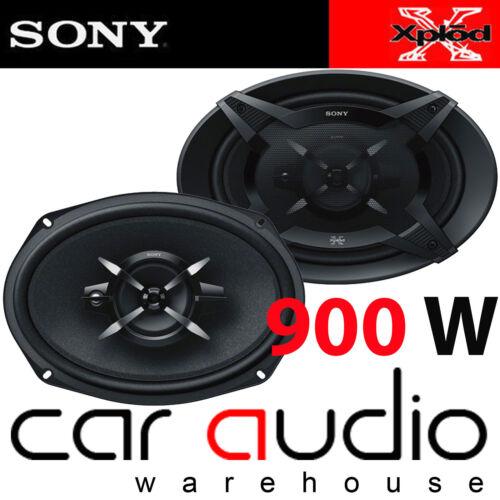 900 Vatios Un Par Sony XS-FB6930 6x9 3 vías CAR ALTAVOCES COAXIALES Parcela Estante De Puerta
