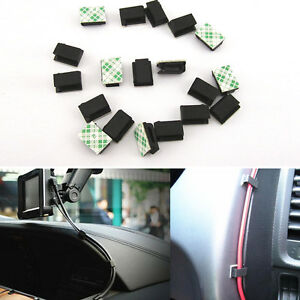 40pc Car Interior Data Tie Cable Mount Wire Fixed Clips Holders Self ...