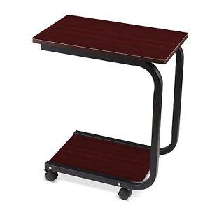 Rolltisch-Betttisch-Beistelltisch-kaffeetisch-Sofatisch-Laptoptisch-59x50x29-cm
