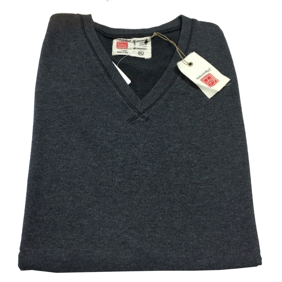 BAKUTO 893 Weste Herren gebürstetem Fleece dunkelgrau schlank 100% Baumwolle