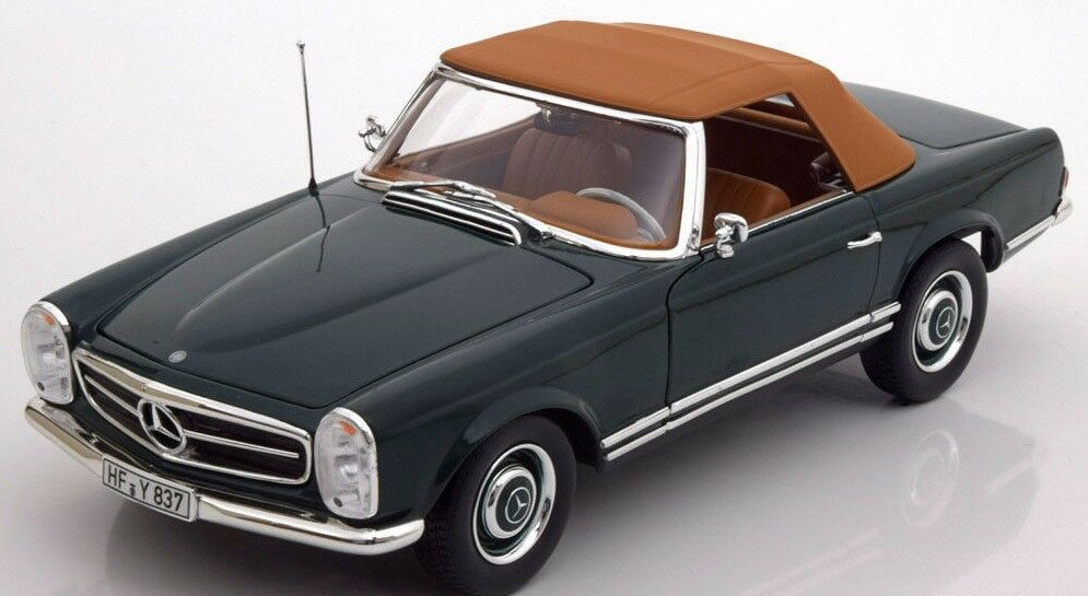 NOREV 1963 Mercedes 230SL (W113) Cabriolet   Soft-Top Green LE 1000pc New Item