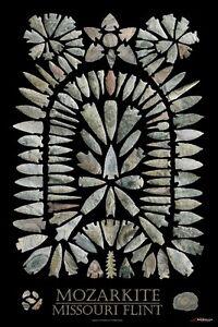"Arrowhead Material Poster - ""Mozarkite Missouri Flint"""