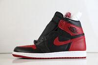 Nike Air Jordan Retro 1 Bred Banned 2016 555088-001 7-14 Black Red 11 12 3 4