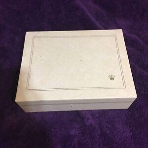 Raro-duro-para-encontrar-Vintage-Reloj-Rolex-Calidad-Bloqueo-De-Cuero-jewelrybox-clave