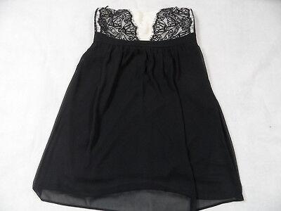 ESPRIT chices trägerloses Kleid m. Spitze schwarz creme Gr. 42 TOP LC219 | eBay