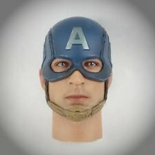 Hot Toys Winter Soldier CAPTAIN AMERICA STEVE ROGERS Figures 1/6 HELMETED HEAD