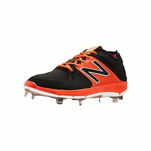 New Balance LowCut 3000v3 Mens Cushioning Metal Baseball Cleat  Black-orange