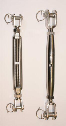 Spannschraube Edelstahl V4A Seilspanner Größe M5 bis M20 Wantenspanner