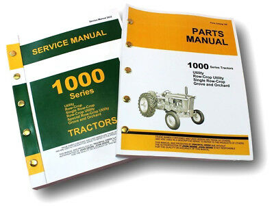 SERVICE MANUAL SET FOR JOHN DEERE 1010 TRACTOR TECHNICAL PARTS CATALOG SHOP EBay