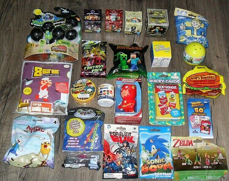 BLIND BAGS TOYS BULK LOT OF 22 DIFFERENT ITEMS U RECEIVE EVERYTHING PICTURED  H