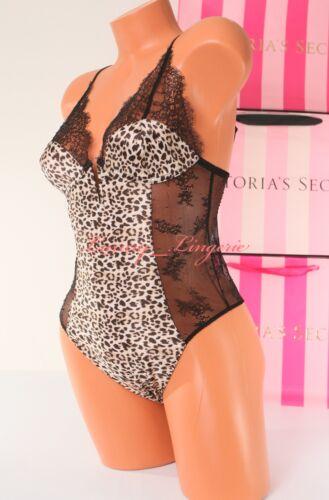 XS X-Small VS Victoria/'s Secret Lingerie Lace Satin Teddy Snap Crotch Animal