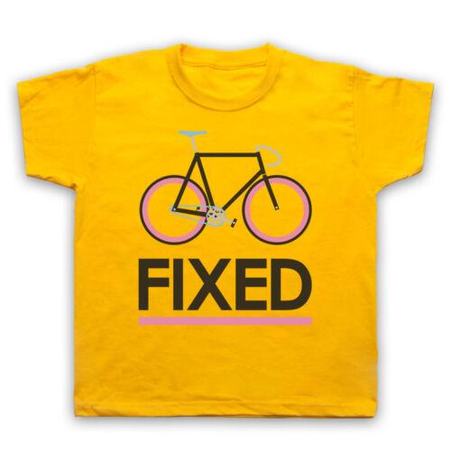 Fixed gear vélo fixie Style rétro Vélo Cycle Hommes Femmes Enfants T-Shirt