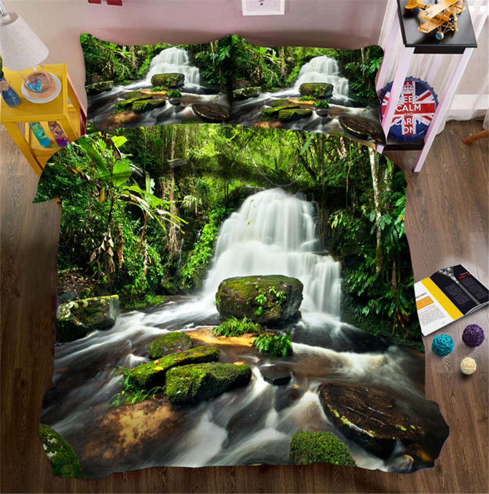 Mountain Stream 3D Printing Duvet Quilt Doona Covers Pillow Case Bedding Sets