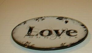 The Truth BLACK & WHITE Carson Home Accents LOVE Home Décor Trinket Dish