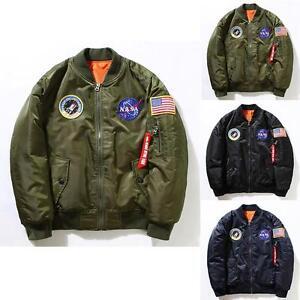 a67a433fe6439 Nasa Bomber Jacket Men Women Pilot MA1 Coat Flight Air Force ...