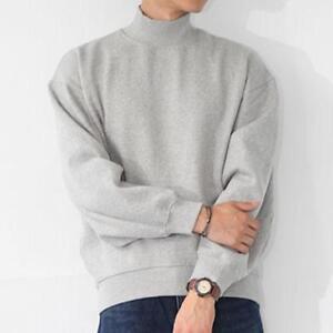 55c1e2792 2018 Vintage Sweatshirt Men Turtleneck Fashion Baggy Loose Chic ...